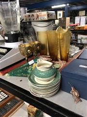 Sale 8819 - Lot 2366 - Collection of sundries including glasses, vases, wall pocket, etc