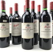 Sale 8862 - Lot 542 - 9x 1996-2004 Penfolds Bin 389 Cabernet Shiraz, South Australia - vertical set of 9 bottles, one bottle per vintage