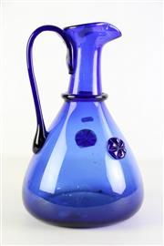 Sale 8944 - Lot 46 - Large blue glass jug (H33.5cm)