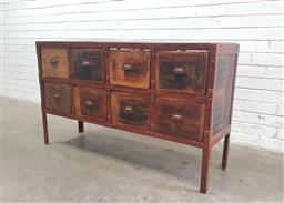 Sale 9112 - Lot 1050 - Industrial Style Steel & Timber 8 Drawer Chest