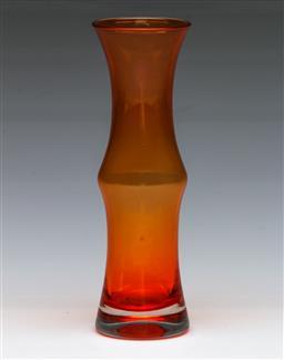 Sale 9148 - Lot 82 - After Bo Borgstrom Aseda Glassbruk, vintage Scandinavian cased glass bamboo vase varient , (H:18cm)