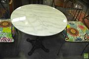 Sale 8383 - Lot 1331 - White Marble Table Top (80cm diameter)