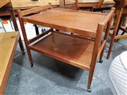 Sale 8801 - Lot 1053 - 2 Tier Danish Teak Tea Trolley