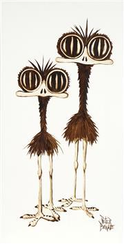 Sale 8738 - Lot 508 - Peter Browne (1947 - ) - Adeline & Audrey 60.5 x 30.5cm