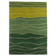 Sale 8820C - Lot 39 - An Indian Organic Waves, made from Handspun Wool & Silk140x200, 305x430cm