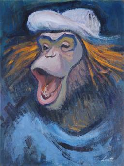 Sale 9143A - Lot 5026 - GERRAD LANTS (1927 - 1988) - Chimp 60 x 46 cm
