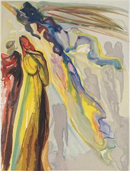 Sale 8985A - Lot 5016 - Salvador Dali (1904 - 1989) - Two Wreaths Of Spirits 33 x 25.5 cm (frame: 64 x 57 x 3 cm)