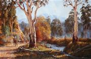 Sale 9067 - Lot 590 - Brian Nash (1942 - ) - Cattle Drive 59.5 x 90 cm (frame: 89 x 119 x 6 cm)