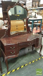 Sale 8390 - Lot 1565 - French Style Mirrored Back Dresser