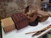 Sale 8637 - Lot 1063 - Collection of Cane & Wicker Items