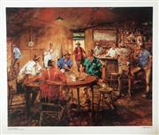 Sale 8655A - Lot 5047 - Hugh Sawrey (1919 - 1999) - The Four Deuces 63 x 74.5cm