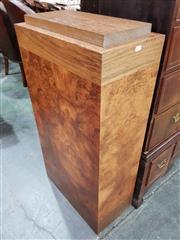 Sale 8714 - Lot 1058 - Art Deco Style Rectangular Plinth by James Salmond, probably using Yichimu & Burr Walnut