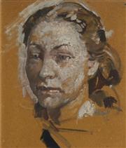 Sale 8773 - Lot 534 - Arthur Murch (1902 - 1989) - Portrait of Jean Appelton, London 1938 35 x 30cm