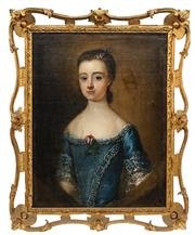 Sale 8838 - Lot 558 - Artist Unknown (Early C19th) - Portrait of Miss Ann Scargill 58 x 47.5cm