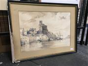 Sale 8856 - Lot 2010A - Artist Unknown La Spezia 1826  watercolour, signed, dated and titled lower right