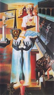 Sale 8985A - Lot 5017 - Salvador Dali (1904 - 1989) - Invisible Man 70 x 51 cm (frame: 104 x 73 x 3 cm)