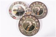 Sale 9010D - Lot 715 - A Pair of Royal Doulton Cabinet Plates (D6306) Together with Another (D6303) and Miniature Old London Royal Doulton Vase (H 7cm)
