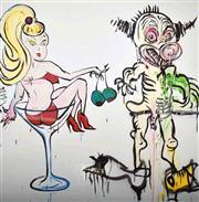 Sale 9072A - Lot 5006 - Adam Cullen (1965 - 2012) - Cocktail Girl and Blind Date, 2010 100 x 100 cm (120 x 120 cm)