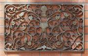 Sale 9081H - Lot 10 - An antique French iron decorative panel, 53cm x 88cm