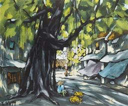 Sale 9118A - Lot 5031 - Le Thanh Son (1962 - ) - Hanoi Market Scene, 1994 66 x 80 cm