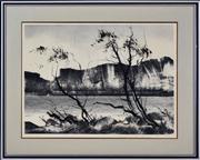 Sale 8344 - Lot 592 - Tom Gleghorn (1925 - ) - Wilpena Sound 41 x 56.5cm