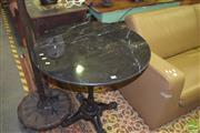Sale 8390 - Lot 1172 - Black Marble Top Table (80cm diameter)