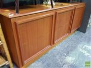 Sale 8545 - Lot 1011 - Retro Three Door Sideboard