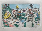 Sale 8655A - Lot 5048 - Peter Kingston (1943 - ) - Wattle Tea Room, 1988 38 x 28.5cm