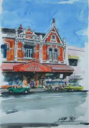 Sale 8753A - Lot 5077 - Jack Namiota - Kings Arcade (High St, Armadale VIC), 1990 67.5 x 47.5cm