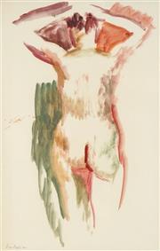 Sale 8773 - Lot 583 - Jean Appelton (1911 - 2003) - Figure with Raised Hands 47.5 x 30.5cm