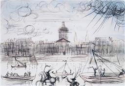 Sale 8985A - Lot 5018 - Salvador Dali (1904 - 1989) - Academy of France 44.5 x 61 cm (frame: 73 x 91 x 3 cm)