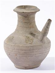 Sale 9003C - Lot 615 - Possibly Yuan unglazed Kendi (H18.5cm, some chips)