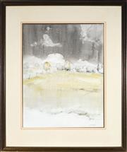 Sale 9019 - Lot 2034 - John Caldwell (1942 - ) - Winter Morning, OConnell 64 x 50cm (frame: 95 x 79 x 2 cm)
