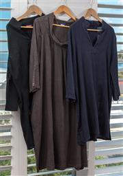 Sale 9023H - Lot 95 - Three Kaftans in cotton and blend in dark tones, all size L
