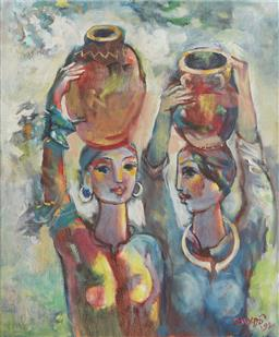 Sale 9118A - Lot 5032 - Nguyen Duy Do - Farmer Girls, 1992 51 x 44 cm