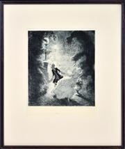 Sale 8344 - Lot 556 - Norman Lindsay (1879 - 1969) - Flight, 1933 27.9 x 25.1cm