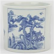 Sale 8342 - Lot 72 - Maopi Ban Blue & White Brushpot