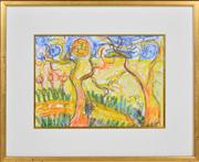 Sale 8358 - Lot 537 - John Perceval (1923 - 2000) - Untitled (Studley Park), 1990 25.5 x 36cm
