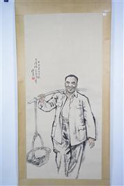 Sale 8391 - Lot 14 - Bao Yuqing Signed Watercolour Scroll