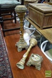 Sale 8507 - Lot 1043 - Gilt Candle Stick