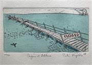 Sale 8655A - Lot 5049 - Peter Kingston (1943 - ) - Penguin at Altona, 1988 38 x 28.5cm