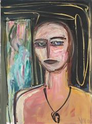 Sale 8773 - Lot 531 - Vicki Varvaressos (1949 - ) - Black Necklace, 2001 76.5 x 56cm