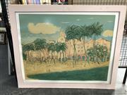 Sale 8797 - Lot 2092 - Resort Beach Scene Print
