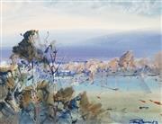 Sale 9055A - Lot 5002 - John Borrack (1933 - ) - Mernda Landscape, 1976 18.5 x 24.5 cm (frame: 49 x 55 x 3 cm)