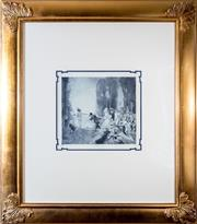 Sale 8338A - Lot 86 - A Norman Lindsay monophoto lithograph, Good Morning, 146/200, work size 28 x 29cm, in gilt frame