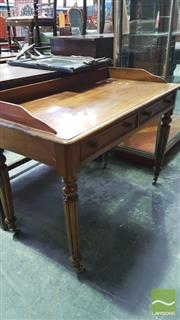 Sale 8375 - Lot 1087 - Victorian Mahogany Washstand, with two drawers raised on reeded legs