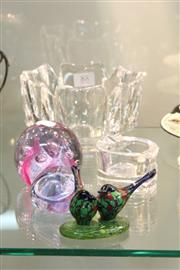 Sale 8360 - Lot 88 - Orrefors Lobed Crystal Bowl with Art Glass incl. Daum & Caithness