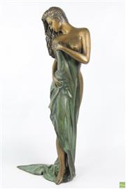 Sale 8599 - Lot 9 - Large Bronze of Semi Nude Woman ( H 65cm)
