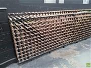 Sale 8601 - Lot 1007 - Large Timber & Metal Double - Holds 480 x Bottles (H: 130 L: 195 W: 61cm)