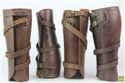 Sale 8612 - Lot 38 - Two Pairs of World War II Leather Leggings
